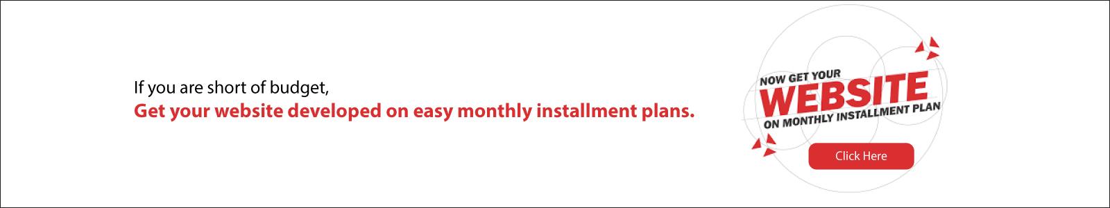 Website on Installment plan