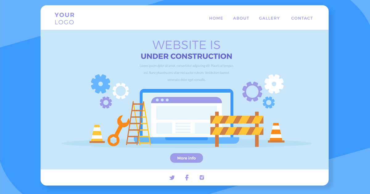 Website development for construction company