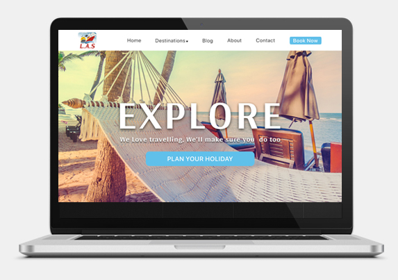 Travel agency website development