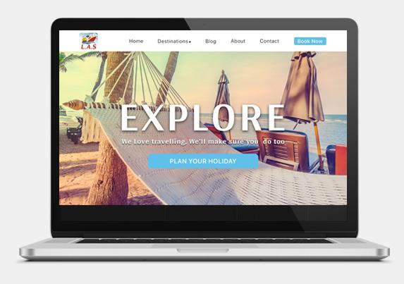 Travel agency website development