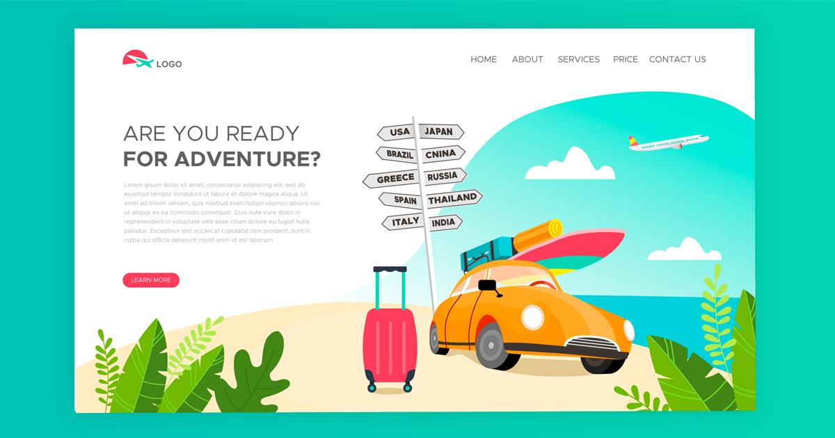 Travel agency website development services