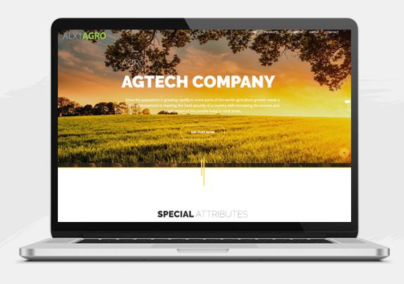 website development for Agricultural business