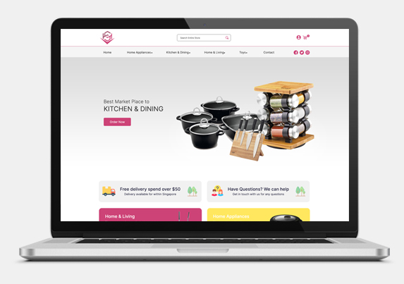 Ecommerce Website Development for Home Appliances