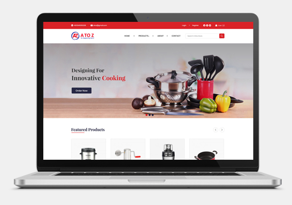 Ecommerce store for kitchen accessories