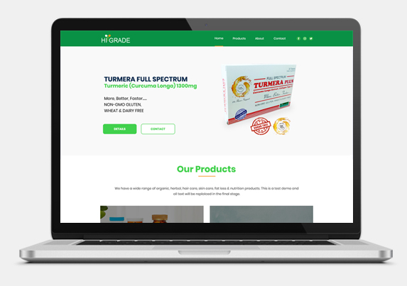 Website Development for Nutraceutical Company