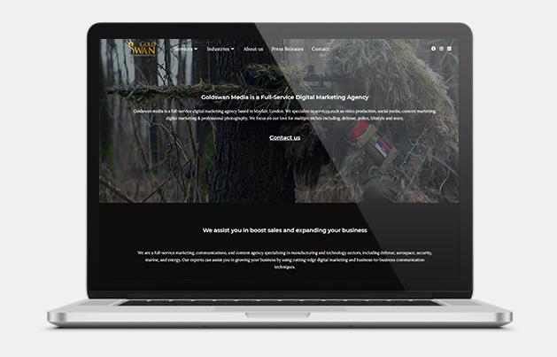 Marketing agency website for defense sector